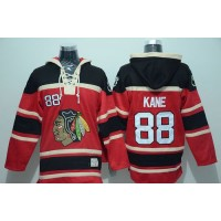 Blackhawks #88 Patrick Kane Red Sawyer Hooded Sweatshirt Stitched NHL Jersey