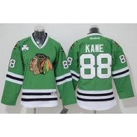 Blackhawks #88 Patrick Kane Stitched Green youth NHL Jersey