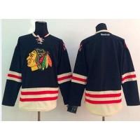 Blackhawks Blank Black 2015 Winter Classic Stitched NHL Jersey