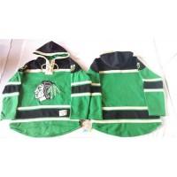 Blackhawks Blank Green St. Patrick's Day McNary Lace Hoodie Stitched NHL Jersey