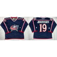 Blue Jackets #19 Ryan Johansen Navy Blue Home Stitched NHL Jersey