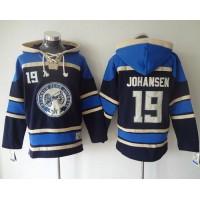 Blue Jackets #19 Ryan Johansen Navy Blue Sawyer Hooded Sweatshirt Stitched NHL Jersey