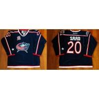 Blue Jackets #20 Brandon Saad Navy Blue Home Stitched NHL Jersey