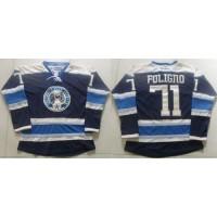 Blue Jackets #71 Nick Foligno Navy Blue Alternate Stitched NHL Jersey