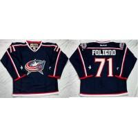 Blue Jackets #71 Nick Foligno Navy Blue Home Stitched NHL Jersey