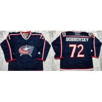 Blue Jackets #72 Sergei Bobrovsky Navy Blue Home Stitched NHL Jersey