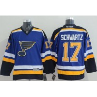 Blues #17 Jaden Schwartz Light Blue Home Stitched NHL Jersey