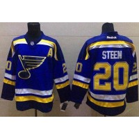 Blues #20 Alexander Steen Light Blue Home Stitched NHL Jersey