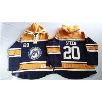 Blues #20 Alexander Steen Navy BlueGold Sawyer Hooded Sweatshirt Stitched NHL Jersey