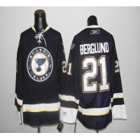Blues #21 Berglund Dark Blue Stitched NHL Jersey