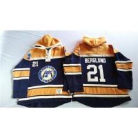 Blues #21 Patrik Berglund Navy BlueGold Sawyer Hooded Sweatshirt Stitched NHL Jersey