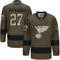 Blues #27 Alex Pietrangelo Green Salute to Service Stitched NHL Jersey