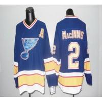 Blues CCM Throwback #2 Macinnis Blue Stitched NHL Jersey