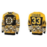 Boston Bruins #33 Zdeno Chara BlackYellow Men's NHL Ugly Sweater