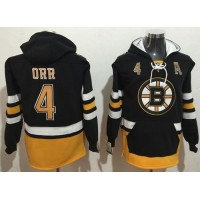 Boston Bruins #4 Bobby Orr Black Name & Number Pullover NHL Hoodie
