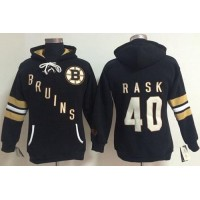 Boston Bruins #40 Tuukka Rask Black Women's Old Time Heidi NHL Hoodie