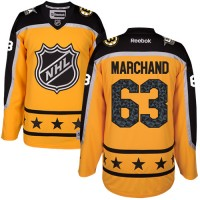 Boston Bruins #63 Brad Marchand Yellow 2017 All-Star Atlantic Division Stitched NHL Jersey