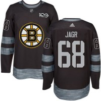 Boston Bruins #68 Jaromir Jagr Black 1917-2017 100th Anniversary Stitched NHL Jersey