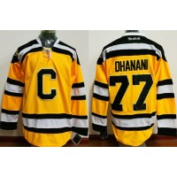 Boston Bruins #77 Dhanani Yellow C Stitched NHL Jersey