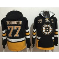 Boston Bruins #77 Ray Bourque Black Name & Number Pullover NHL Hoodie