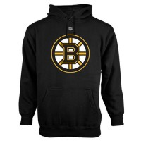 Boston Bruins Old Time Hockey Big Logo with Crest Pullover Hoodie Black
