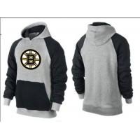 Boston Bruins Pullover Hoodie Grey & Black