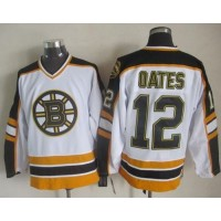 Bruins #12 Adam Oates WhiteBlack CCM Throwback Stitched NHL Jersey