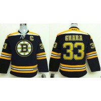 Bruins #33 Zdeno Chara Black Stitched Youth NHL Jersey
