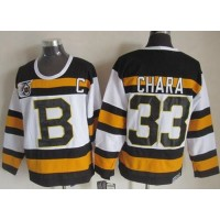 Bruins #33 Zdeno Chara White CCM Throwback 75TH Stitched NHL Jersey