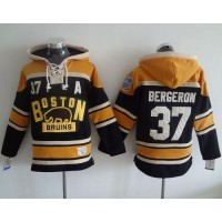 Bruins #37 Patrice Bergeron Black 2016 Winter Classic Hoodie Stitched NHL Jersey