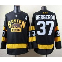 Bruins #37 Patrice Bergeron Black 2016 Winter Classic Stitched NHL Jersey