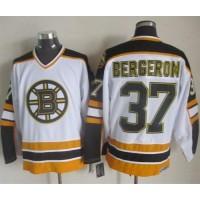 Bruins #37 Patrice Bergeron WhiteBlack CCM Throwback Stitched NHL Jersey