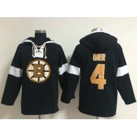 Bruins #4 Bobby Orr Black NHL Pullover Hoodie