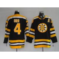 Bruins #4 Bobby Orr CCM Black Stitched Youth NHL Jersey