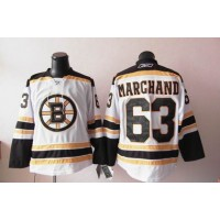 Bruins #63 Brad Marchand White Stitched NHL Jersey