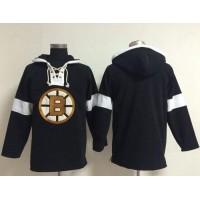 Bruins Blank Black NHL Pullover Hoodie