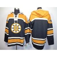 Bruins Blank Black Sawyer Hooded Sweatshirt Stitched NHL Jersey