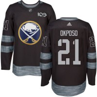 Buffalo Sabres #21 Kyle Okposo Black 1917-2017 100th Anniversary Stitched NHL Jersey