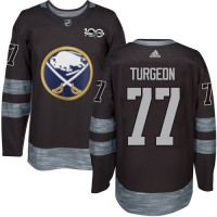 Buffalo Sabres #77 Pierre Turgeon Black 1917-2017 100th Anniversary Stitched NHL Jersey