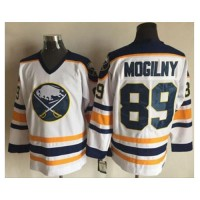 Buffalo Sabres #89 Alexander Mogilny White CCM Throwback Stitched NHL Jersey