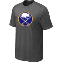 Buffalo Sabres Big & Tall Logo Crow Grey NHL T-Shirts