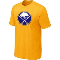 Buffalo Sabres Big & Tall Logo Yellow NHL T-Shirts