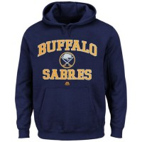 Buffalo Sabres Majestic Heart & Soul Hoodie Navy Blue