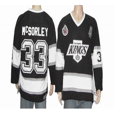 CCM Throwback Kings #33 Martin McSorley Black Stitched NHL Jersey