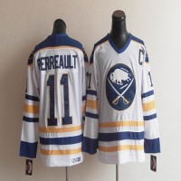 CCM Throwback Sabres #11 Perreault White Stitched NHL Jersey