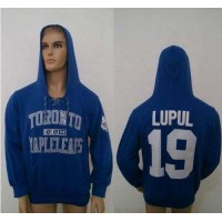CCM Toronto Maple Leafs #19 Joffrey Lupul Blue Lace Up Hoodie