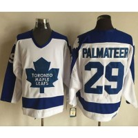 CCM Toronto Maple Leafs #29 Mike Palmateer Blue Lace Up jersey