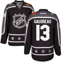 Calgary Flames #13 Johnny Gaudreau Black 2017 All-Star Pacific Division Stitched NHL Jersey