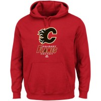 Calgary Flames Majestic Critical Victory VIII Fleece Hoodie Red