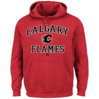Calgary Flames Majestic Heart & Soul Hoodie Red